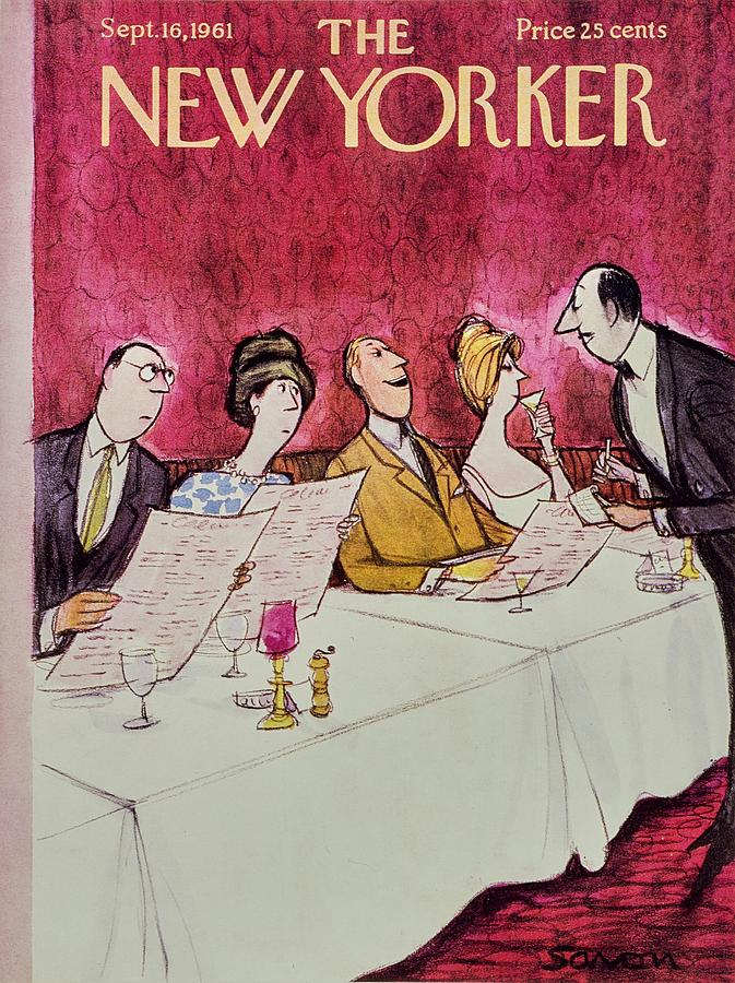 New Yorker September 16th 1961 Painting by Charles D Saxon