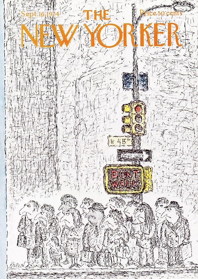 New Yorker September 16th, 1974 Painting by Edward Koren
