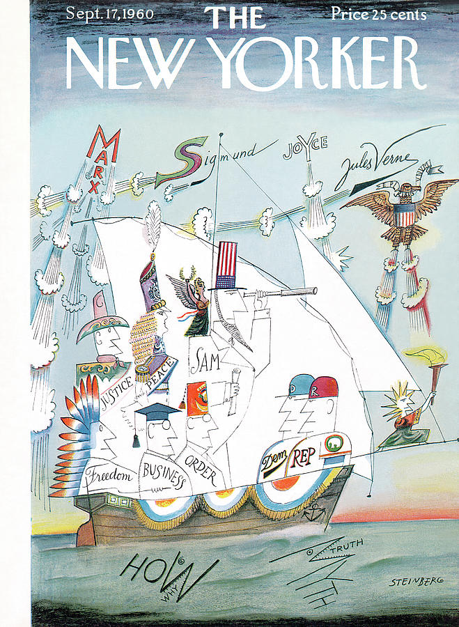 New Yorker September 17th, 1960 Painting by Saul Steinberg