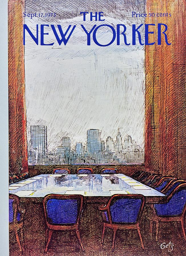 New Yorker September 17th 1973 Painting by Arthur Getz