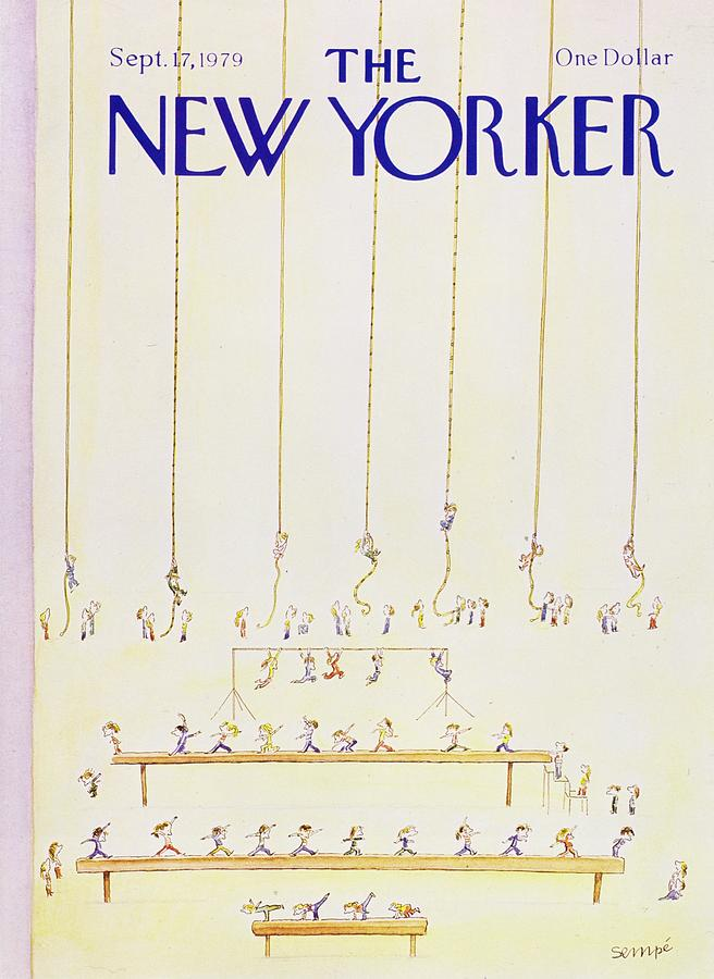 New Yorker September 17th 1979 Painting by JJ Sempe
