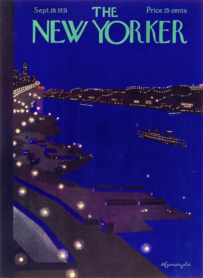New Yorker September 19 1934 Painting by Arthur K. Kronengold