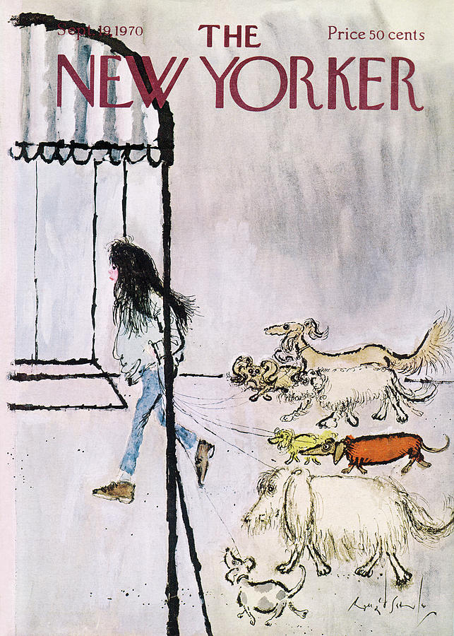 New Yorker September 19th, 1970 Painting by Ronald Searle