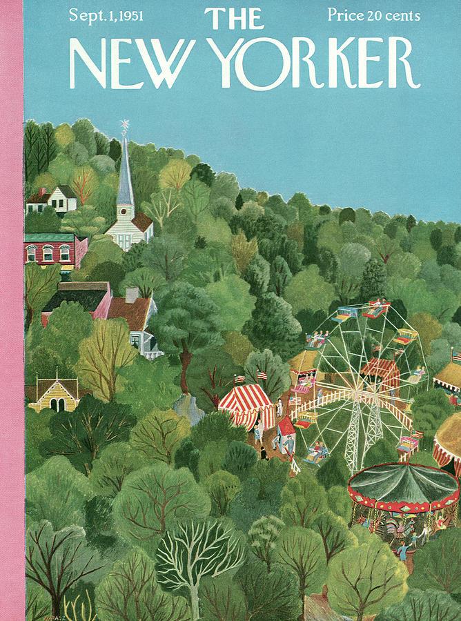 New Yorker September 1st, 1951 Painting by Ilonka Karasz