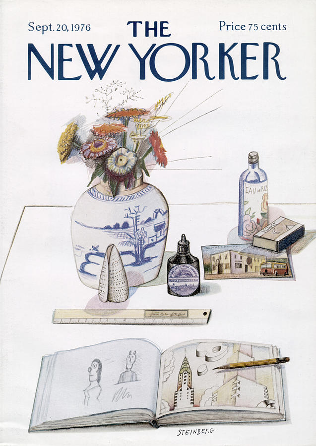 New Yorker September 20th, 1976 Painting by Saul Steinberg