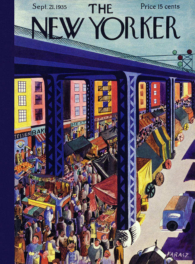 New Yorker September 21 1935 Painting by Ilonka Karasz