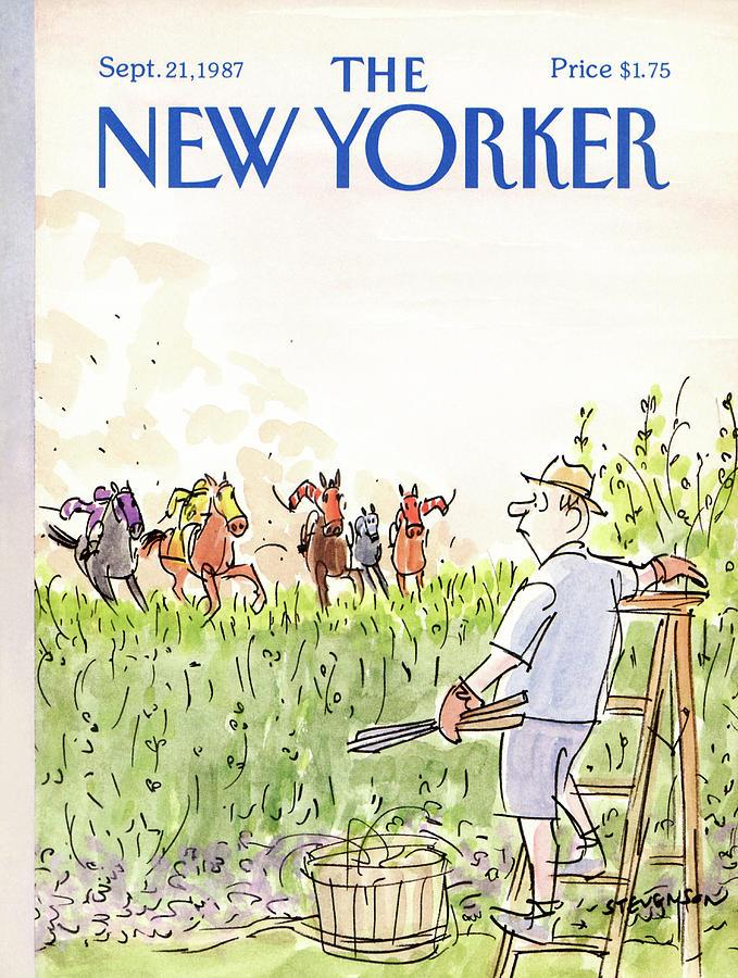 New Yorker September 21st, 1987 Painting by James Stevenson