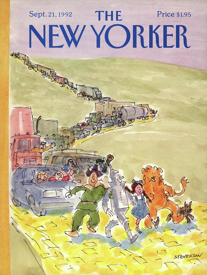 New Yorker September 21st, 1992 Painting by James Stevenson