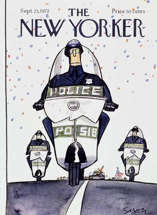 New Yorker September 23rd 1972 Painting by Charles D Saxon
