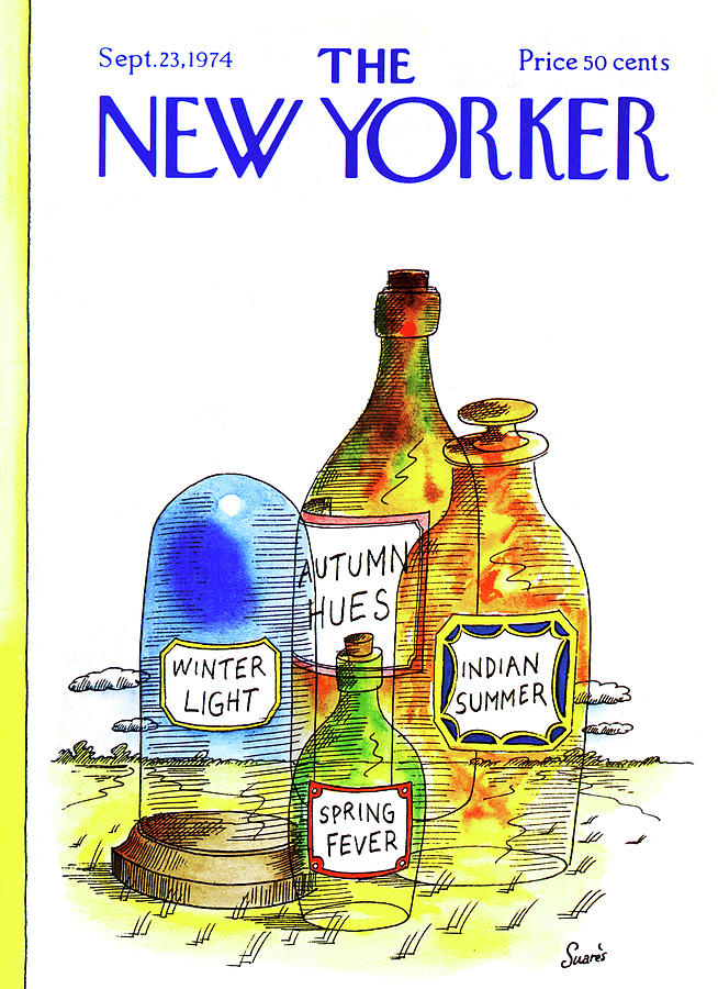 New Yorker September 23rd, 1974 Painting by Jean-Claude Suares