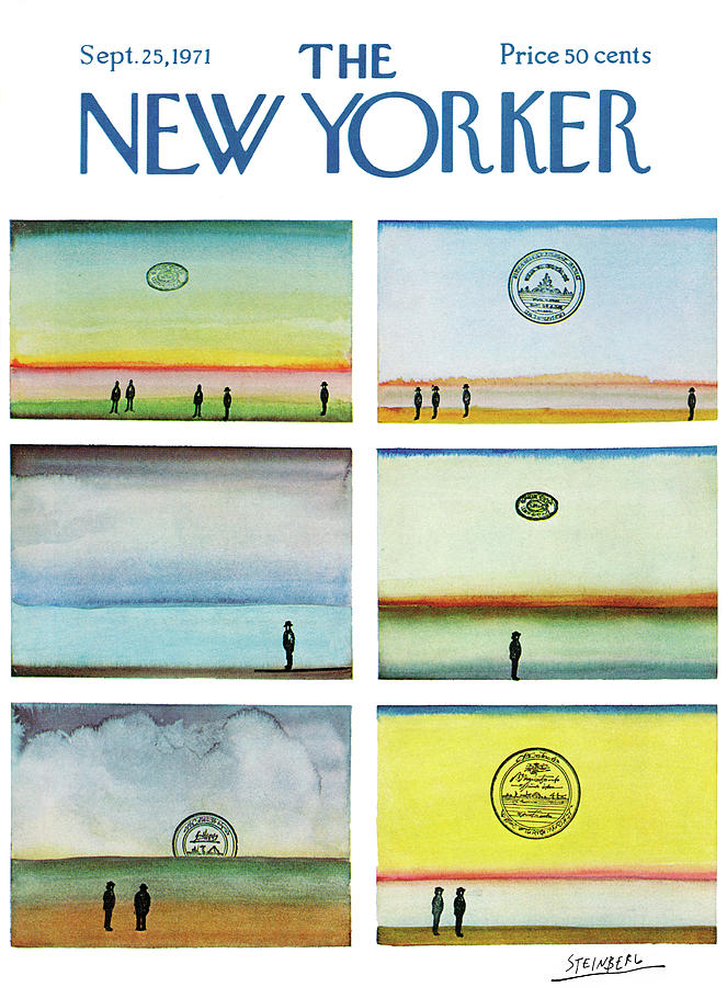 New Yorker September 25th, 1971 Painting by Saul Steinberg