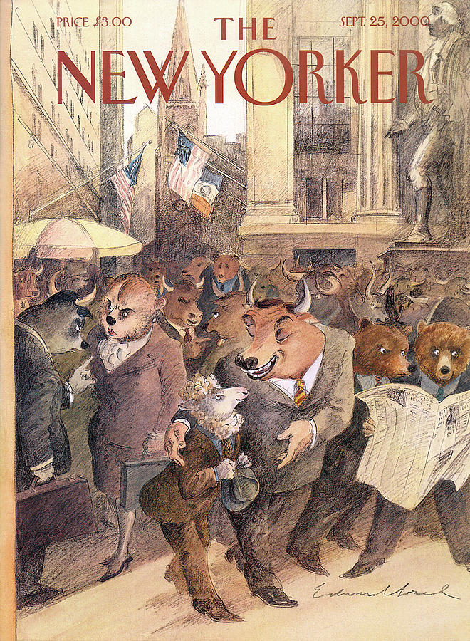 New Yorker September 25th, 2000 Painting by Edward Sorel