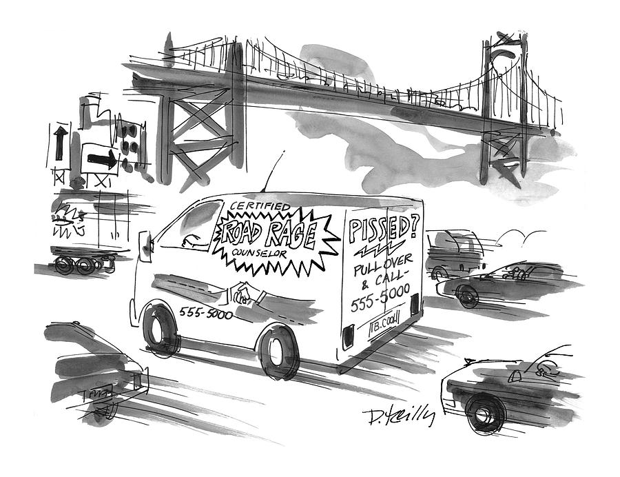 Road Rage Drawing - New Yorker September 27th, 1999 by Donald Reilly