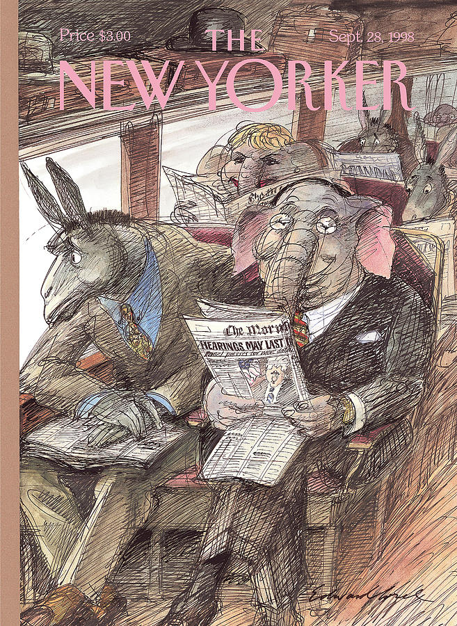 New Yorker September 28th, 1998 Painting by Edward Sorel