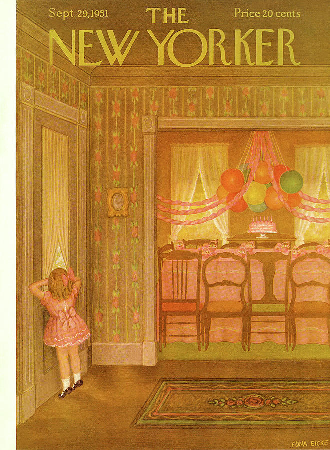 New Yorker September 29th, 1951 Painting by Edna Eicke