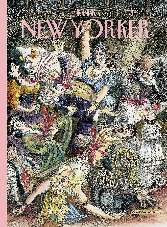 New Yorker September 29th, 1997 Painting by Edward Sorel