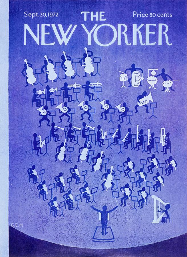 New Yorker September 30th 1972 Painting by Charles Martin