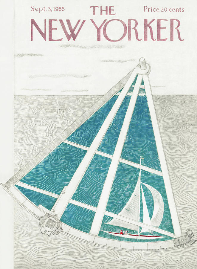 Captain Painting - New Yorker September 3rd, 1955 by Ilonka Karasz