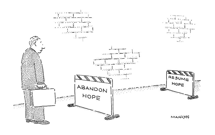 Urban Drawing - New Yorker September 3rd, 1990 by Robert Mankoff