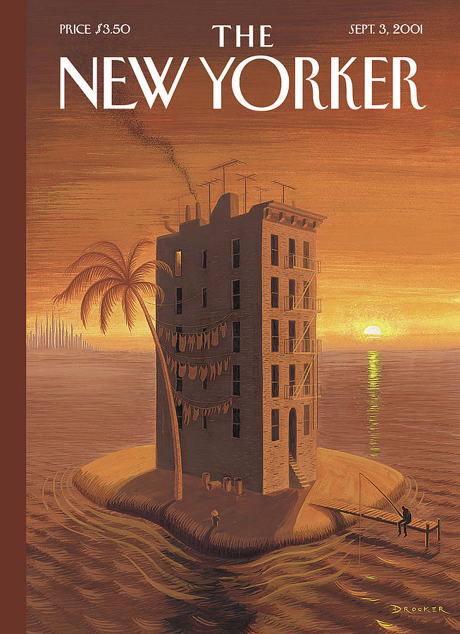 New Yorker September 3rd, 2001 Painting by Eric Drooker