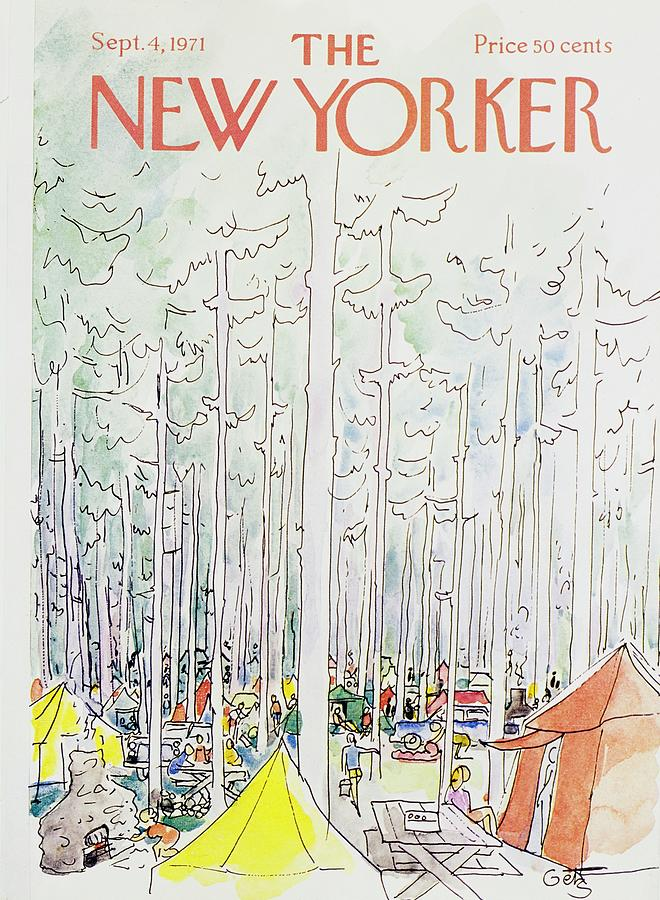 New Yorker September 4th 1971 Painting by Arthur Getz