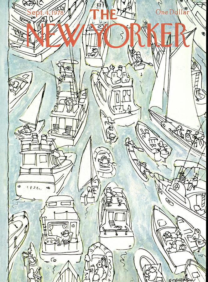 New Yorker September 4th, 1978 Painting by James Stevenson