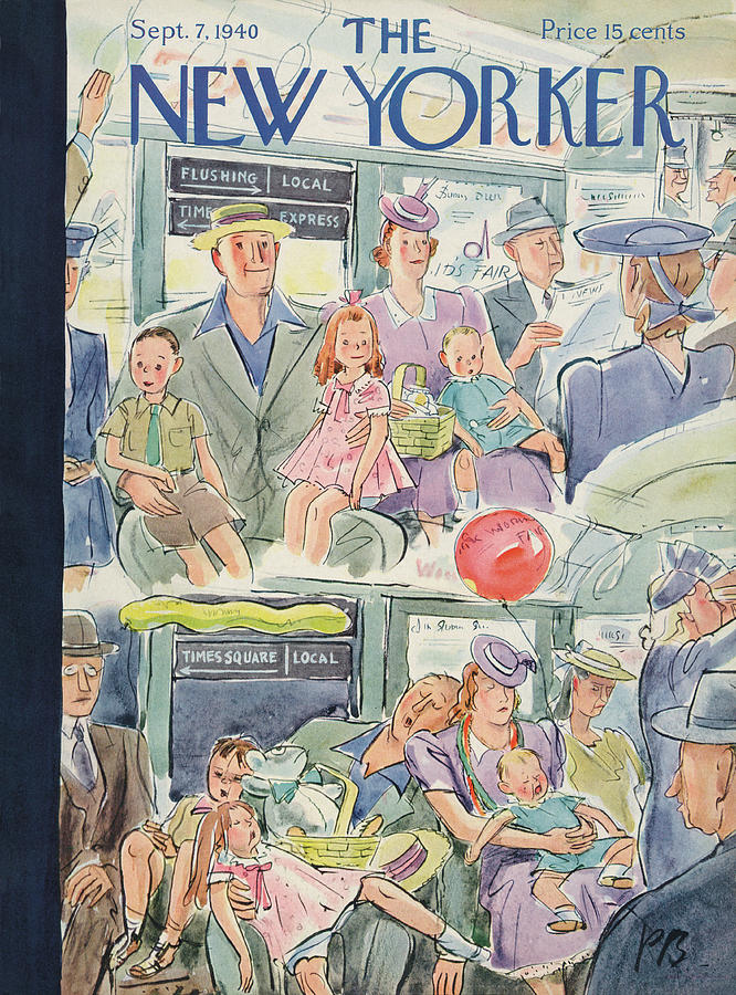 New Yorker September 7th, 1940 Painting by Perry Barlow