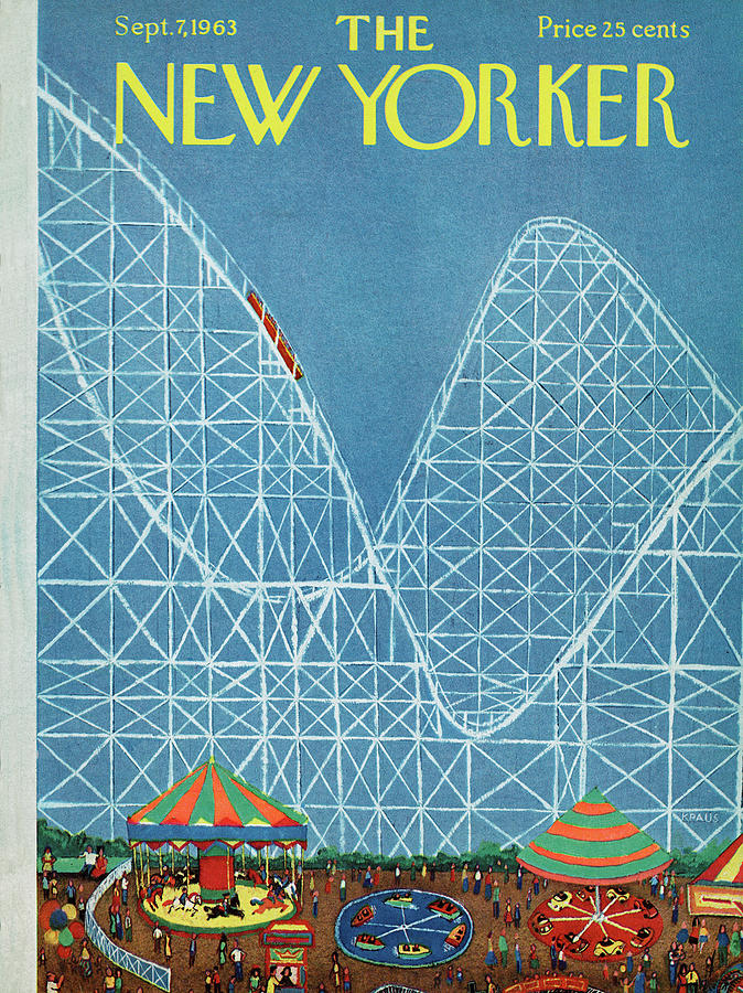 Attraction Painting - New Yorker September 7th, 1963 by Robert Kraus
