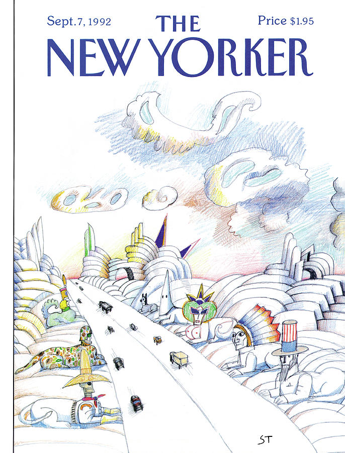 New Yorker September 7th, 1992 Painting by Saul Steinberg