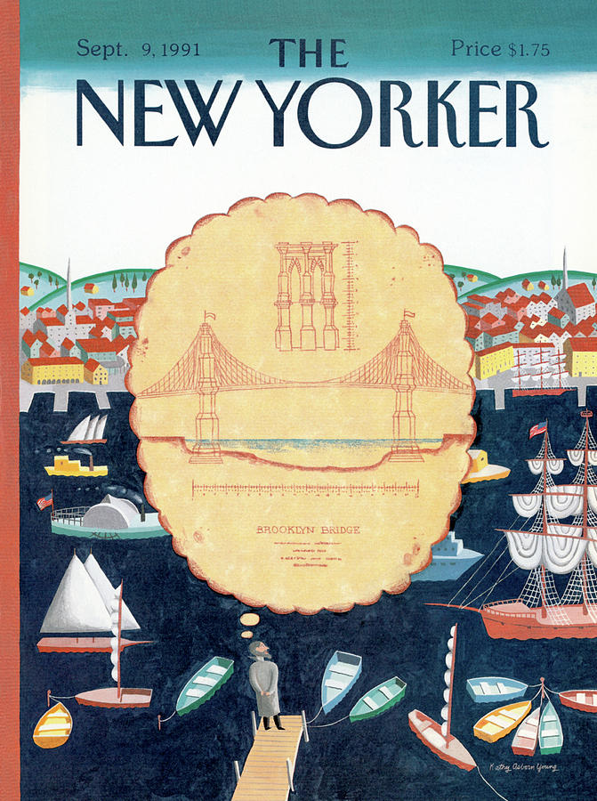 New Yorker September 9th, 1991 Painting by Kathy Osborn