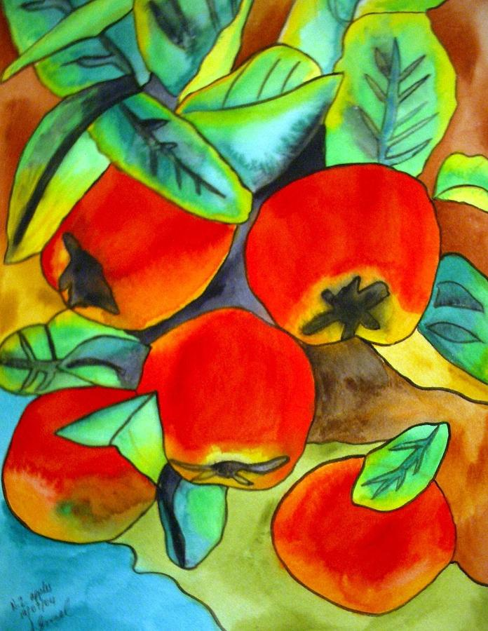 Apples Painting - New Zealand Apples by Sacha Grossel