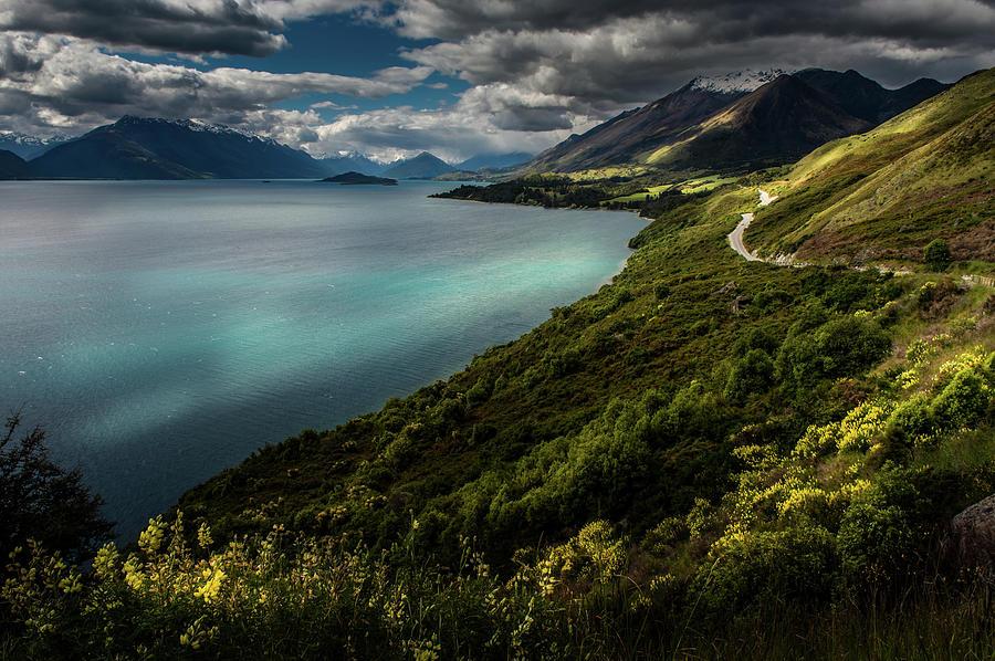 New Zealand Lake Side Landscape Photograph by Coolbiere Photograph