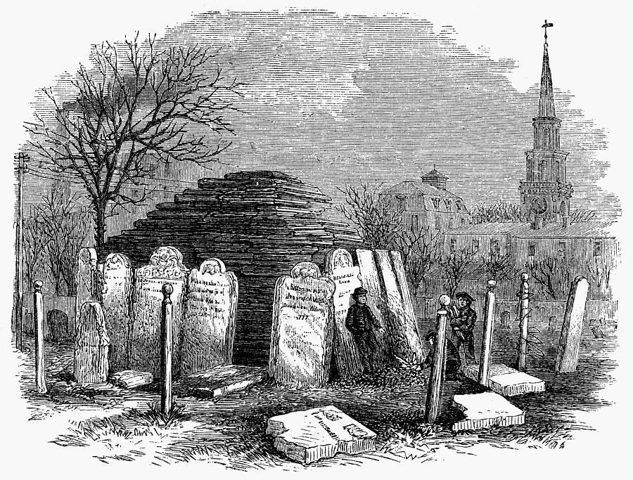 1876 Painting - Newark Cemetery, 1876 by Granger