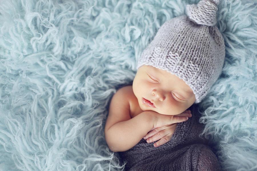 Newborn Boy Photograph by copyright by Elena Litsova Photography