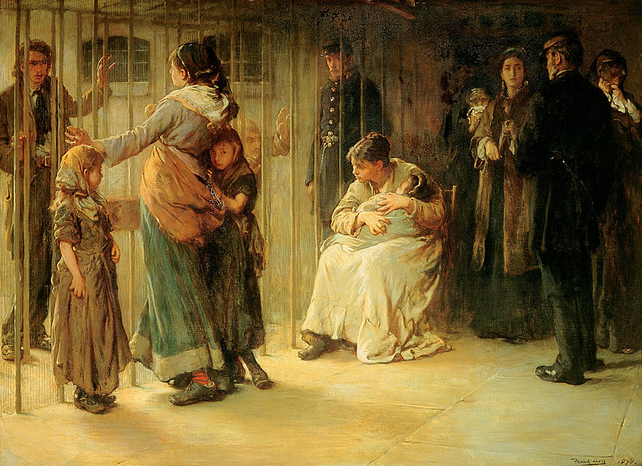 Industrial Revolution Painting - Newgate Committed For Trial, 1878 by Frank Holl