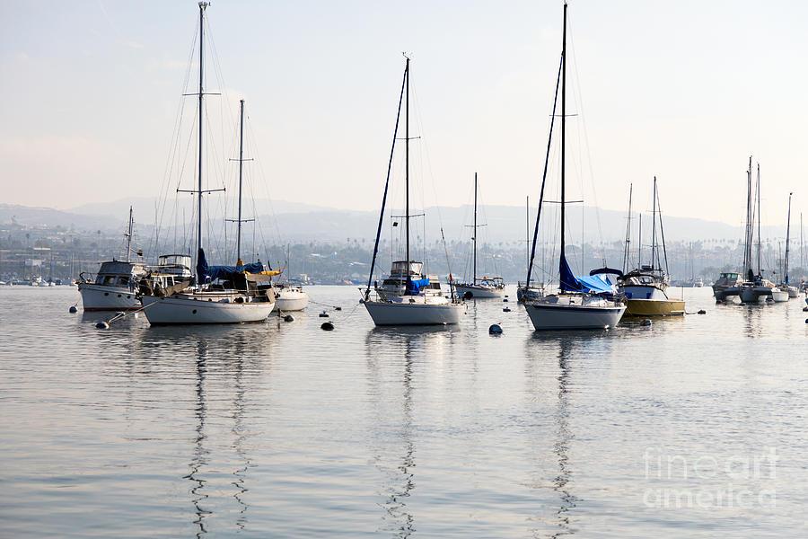 Bay Photograph - Newport Beach Bay Harbor California by Paul Velgos