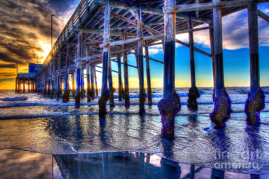 Pier Photograph - Newport Beach Pier - Low Tide by Jim Carrell