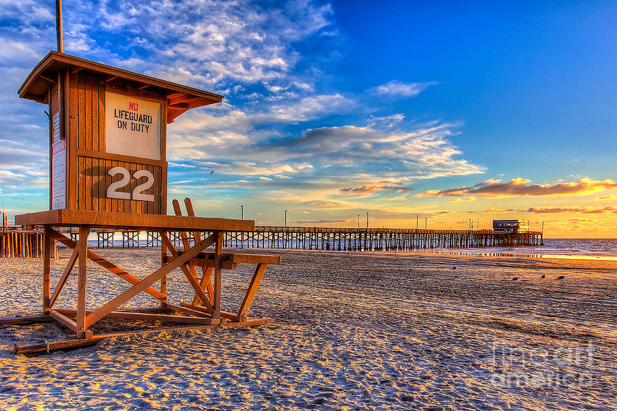Pier Photograph - Newport Beach Pier - Wintertime  by Jim Carrell