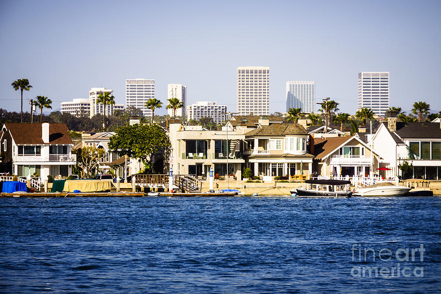 America Photograph - Newport Beach Skyline And Waterfront Homes Picture by Paul Velgos