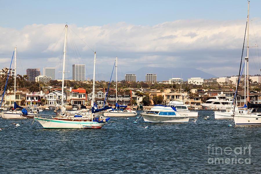 America Photograph - Newport Beach Skyline In Orange County California by Paul Velgos