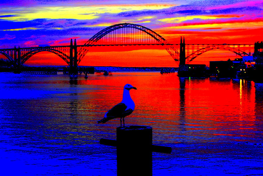 Sunset Photograph - Newport Blast by Mamie Gunning