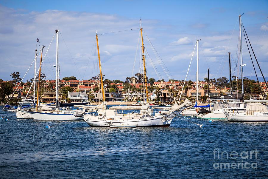 America Photograph - Newport Harbor Boats In Orange County California by Paul Velgos