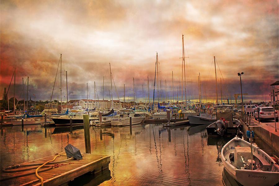 Rhode Photograph - Newport Rhode Island Harbor I by Betsy Knapp