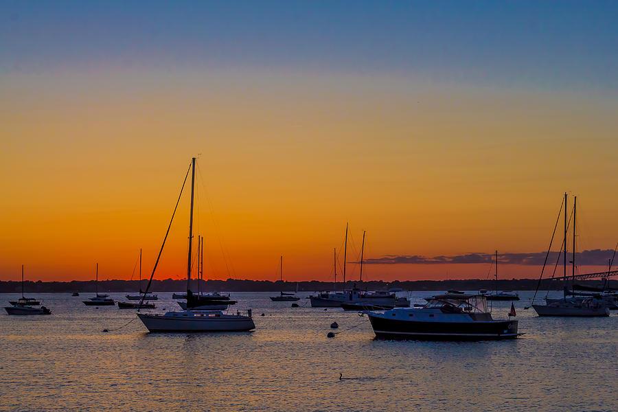 2014 Photograph - Newport Ri Sunset by Sean Mackie