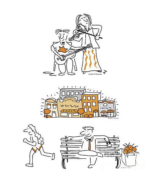 Cartoon Digital Art - Newsletter Cartoons Composite by Diane Thornton
