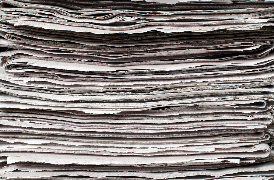 Newspaper Background Photograph by Fotosipsak