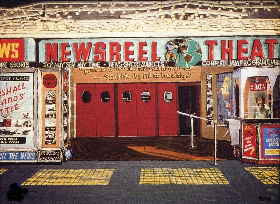 Sacramento Painting - Newsreel Theatre by Paul Guyer