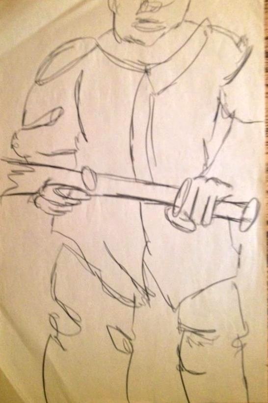Baseball Drawing - Next Batter by Joe Davis