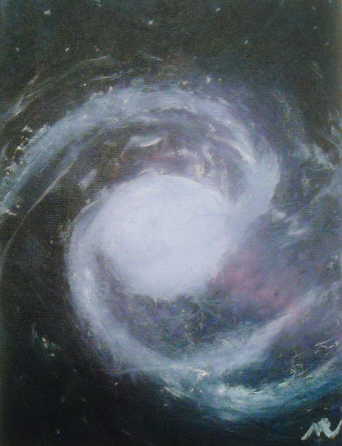 Great Barred Spiral Galaxy Painting - Ngc 1365. Barred Spiral Galaxy With Relativistic Jet by Nicla Rossini