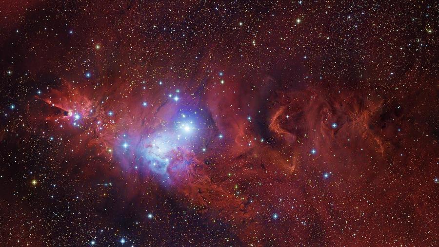 Ngc 2264, The Cone Nebula Region Photograph by Robert Gendler/stocktrek Images
